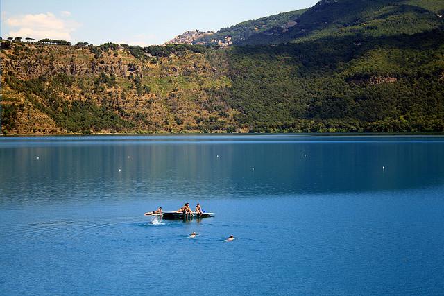 Lake Albano, Rome, Lake, Castelgandolfo, Summer