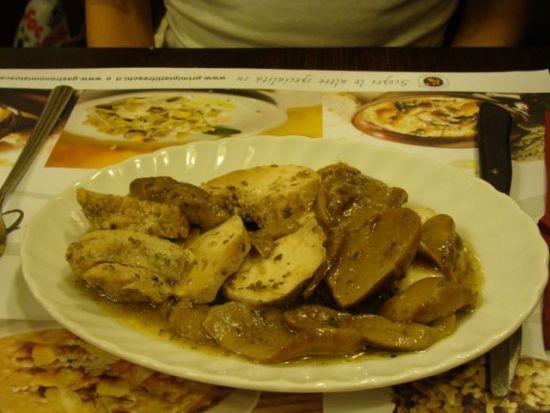 Essen gehen in Florenz - Pangies: Hen und Pilzen