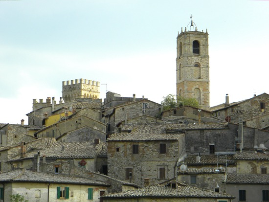 san casciano dei bagni was put on the map by the romans along via cassia