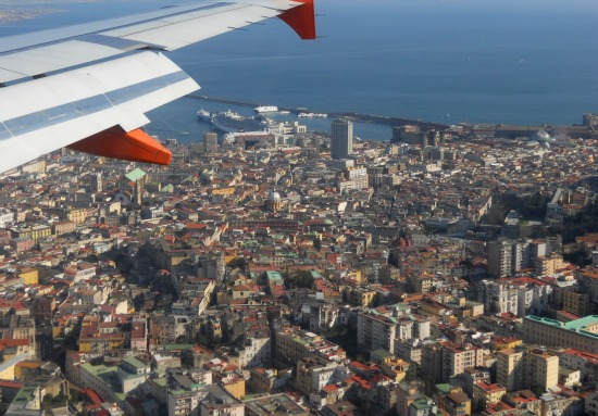 Flying to Naples in Southern Italy