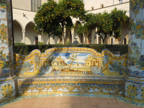 Things To Do In Naples Santa Chiara Majolica Tile Cloister