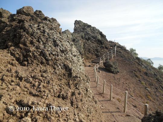 In Campania sulla vetta del Vesuvio