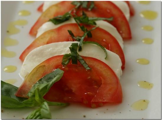 Insalata Caprese mit Mozzarella di Bufala