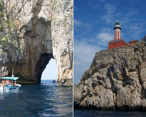 Capri, Kampanien - Leuchtturm Punta Carena