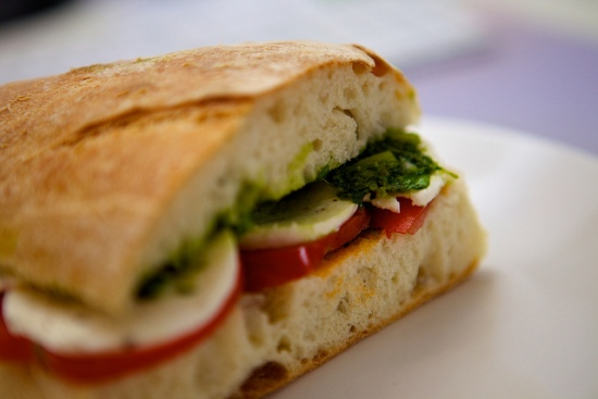 Brot mit Mozzarella