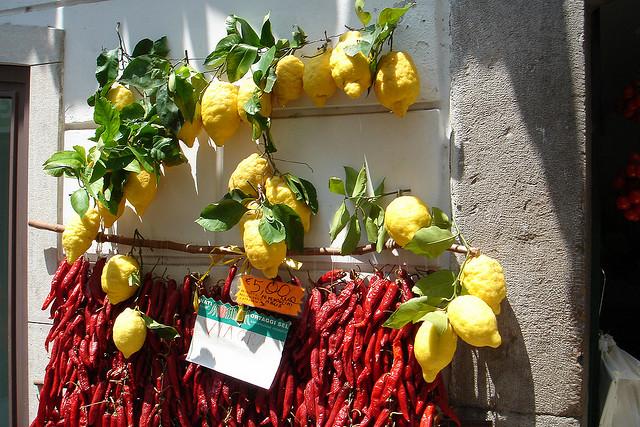 I limoni di Sorrento e della costiera amalfitana
