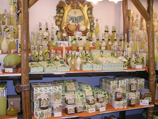 Shopping in Sorrento Italy Famous Limoncello