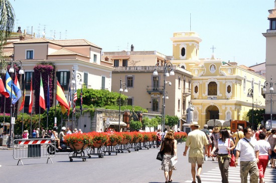 Shopping in Sorrento in the summer