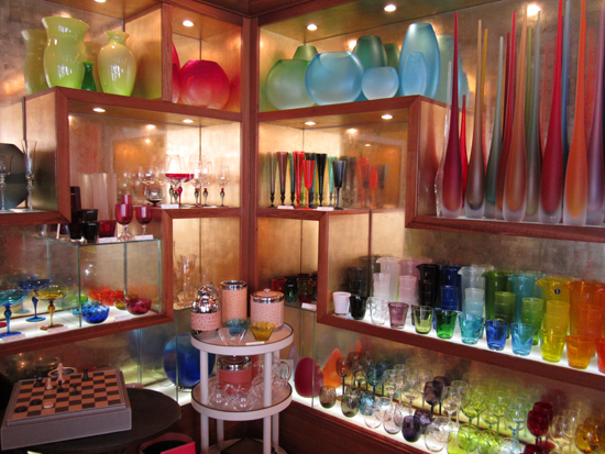 Glass section at Il Prato in San Marco, Photo credit: Leslie Rosa