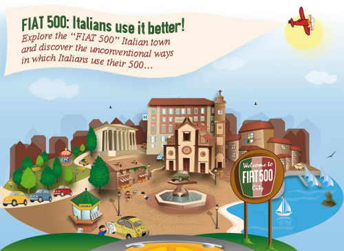 FIAT 500 GAME: Italians use it better!