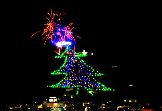 The world's biggest Christmas tree - Gubbio, Umbria