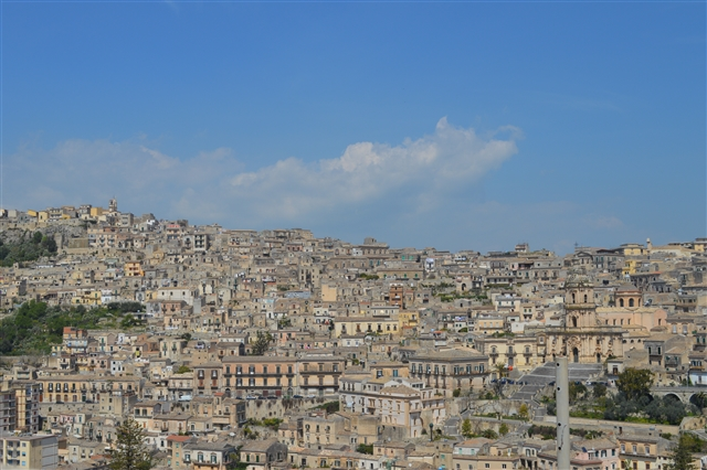 Modica, view over the city